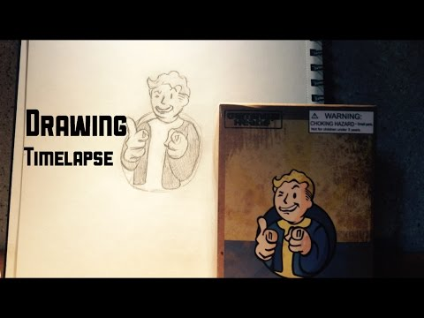 Vault Boy - Fallout | Drawing Timelapse