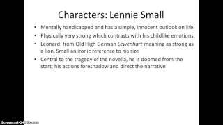 lennie character analysis