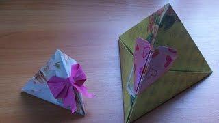 Коробка с Сердцем для Подарка на 14 Февраля, Бонбоньерки на Свадьбу Своими Руками