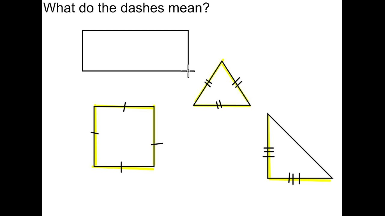 Drawing Lines What Does It Mean : What do the dashes mean youtube