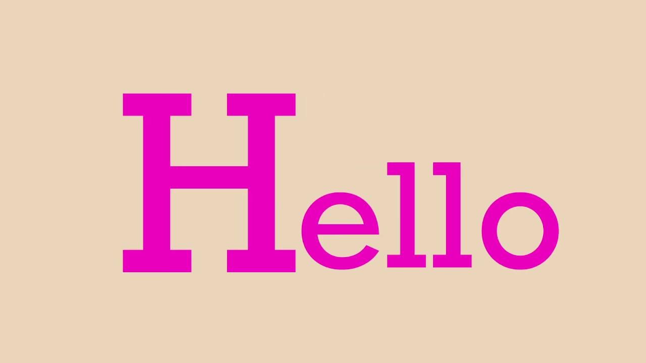 【AE】Capsule-Hello モーショングラフィックス