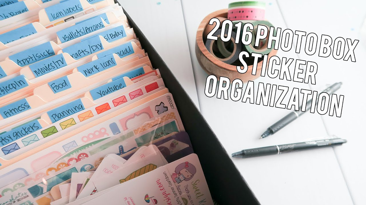 Diy file folder box to organize your stickers youtube - 2016 Photo Box Sticker Organization Collection Creating Co Youtube