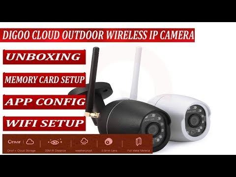 Digoo Cloud Storage WIFI Security IP Camera Unboxing, Memory Card and WFI  Installation