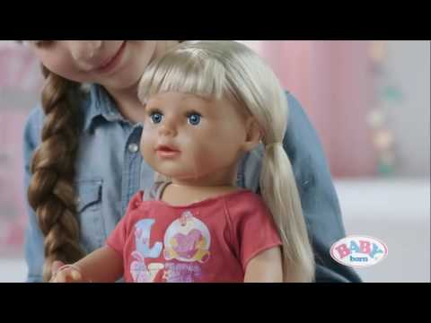 Zapf Creation Baby Born Interactive Sister Doll Youtube