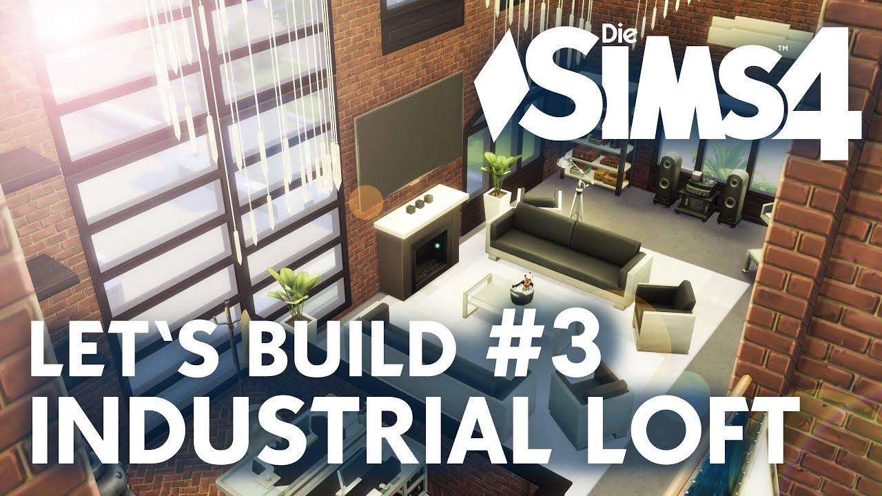 die sims 4 let's build industrial loft #3 | wohnzimmer & atelier