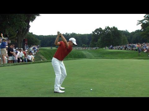 Sangmoon Bae's slo-mo swing is analyzed at The Barclays