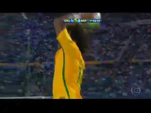 Brasil x Uruguai, entrada de Diego Souza. Eliminatória da copa 23-03-17