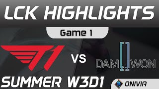 T1 vs DWG Highlights Game 1 LCK Summer Season 2020 W3D1 T1 vs DAMWON Gaming by Onivia