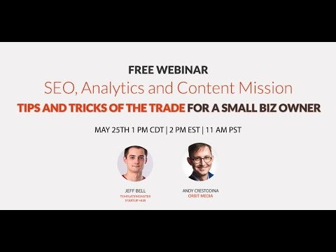 Basics of SEO, Analytics and Content Mission with Andy Crestodina