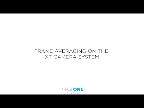 Support - Frame Averaging on the XT Camera System | Phase One