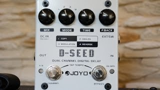 Joyo / Harley Benton - D-SEED - Dual Channel Digital Delay - Pedal Demo