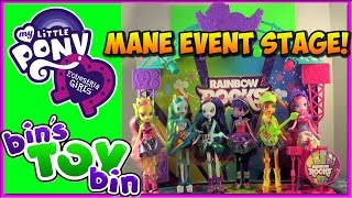 Equestria Girls Rainbow Rocks Mane Event Stage Playset! Review By Bin's Toy Bin