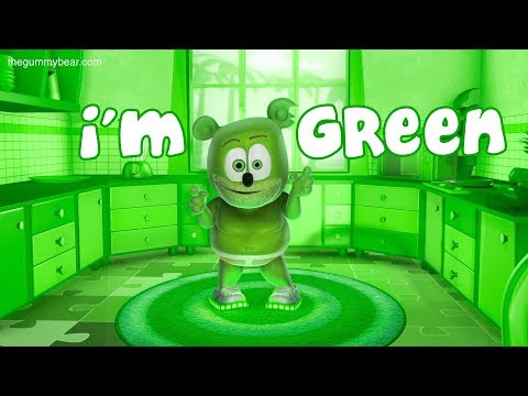 I'm GREEN Song - Gummibär The Gummy Bear - Gummy Bear Song - I'm Blue