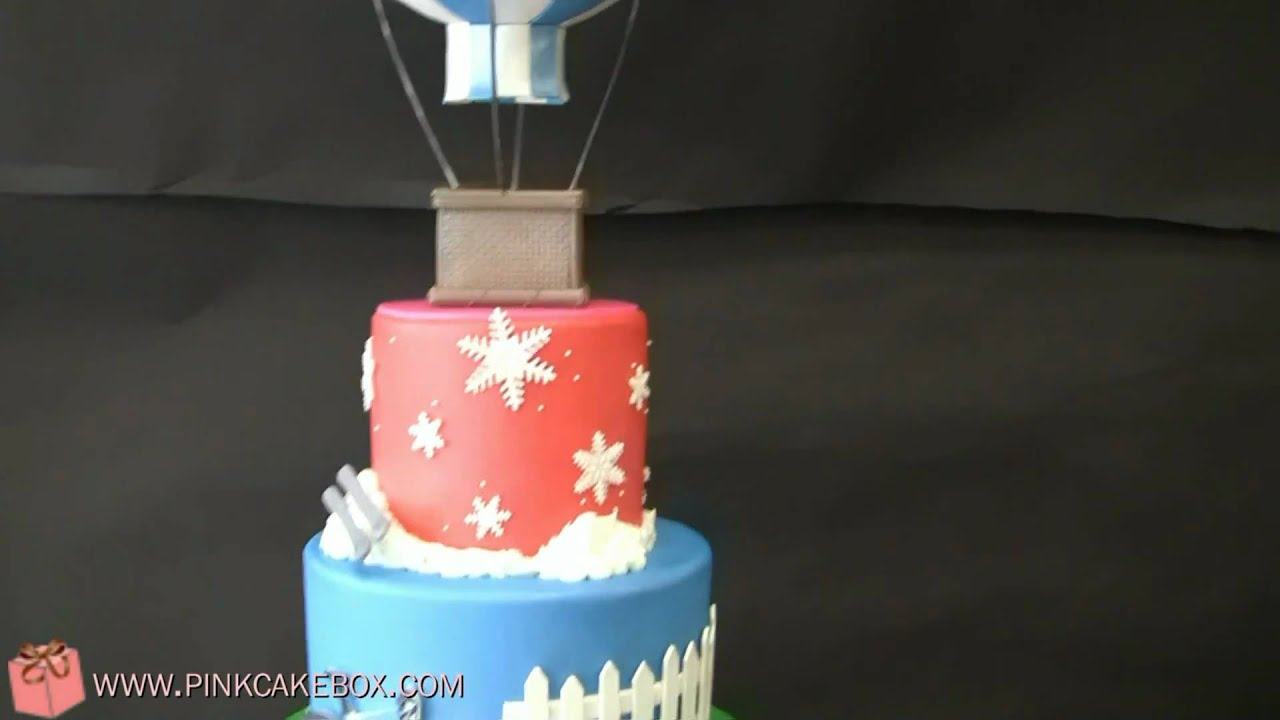 Bat Mitzvah Hot Air Balloon Cake Youtube