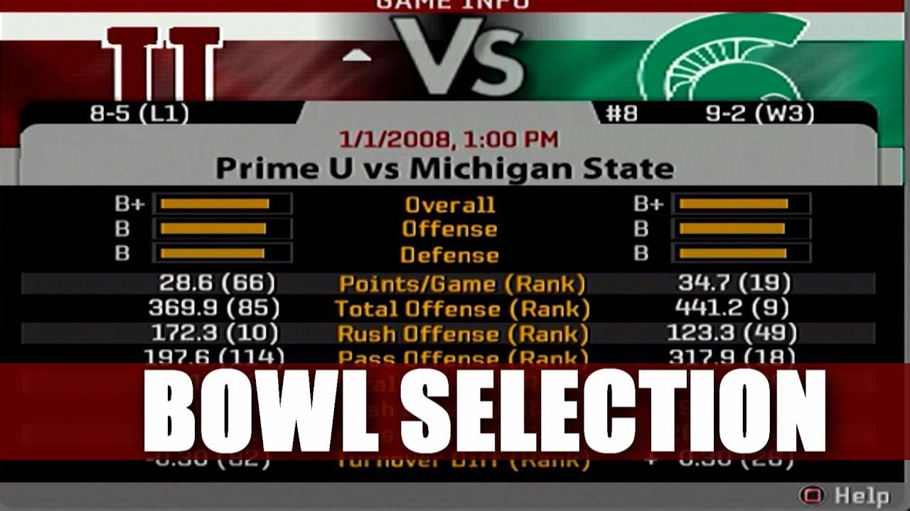 NCAA FOOTBALL 06 PRIME U DYNASTY BOWL SELECTION