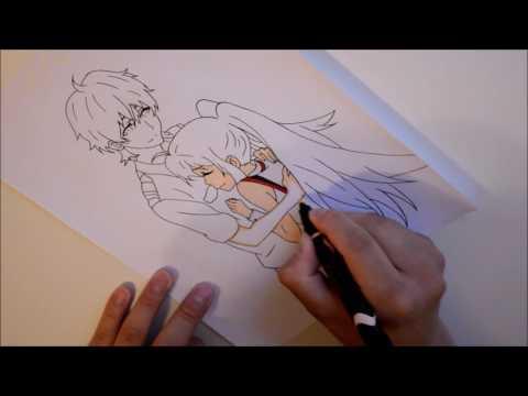 Drawing Isla and Tsukasa from Plastic Memories
