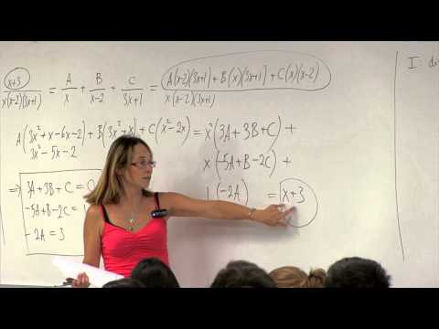 Math 2B. Calculus. Lecture 13. Integration by Partial Fractions
