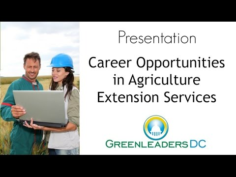 Careers in Farming: Opportunities in Agriculture Extension Services