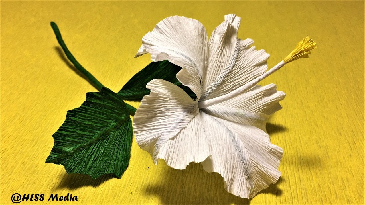 How To Make Easy Origami Hibiscus Paper Flowerdiy Crepe Paper