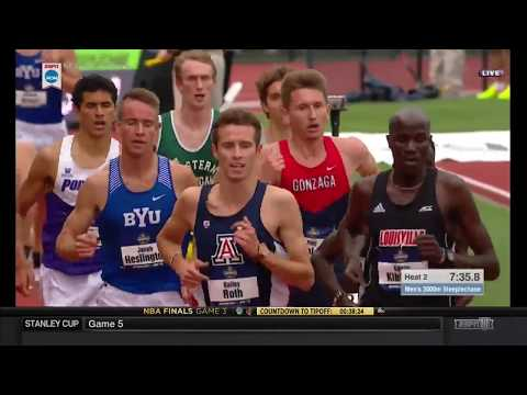 NCAA Men's 3000 Meter Steeplechase Heat 2