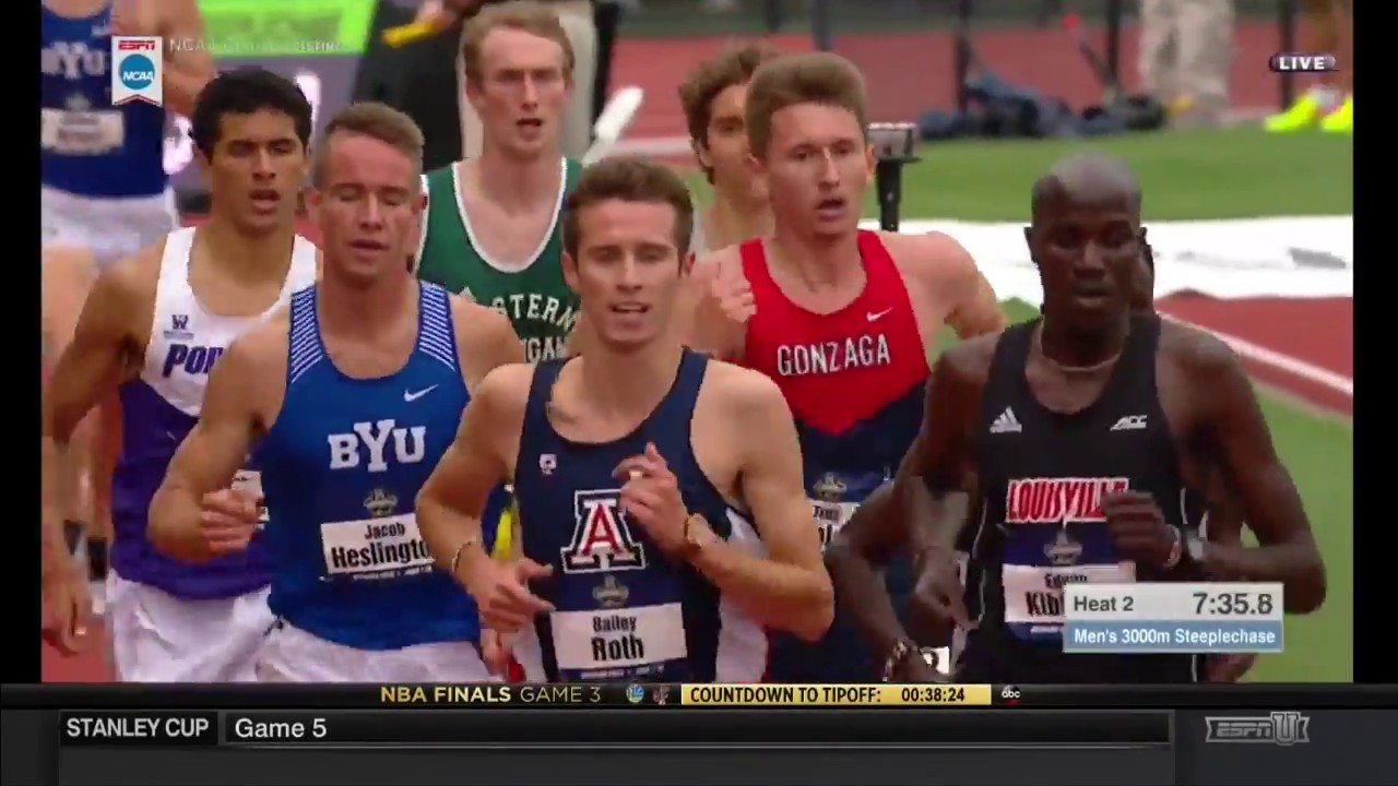 c57af28c6f NCAA Men s 3000 Meter Steeplechase Heat 2 - YouTube