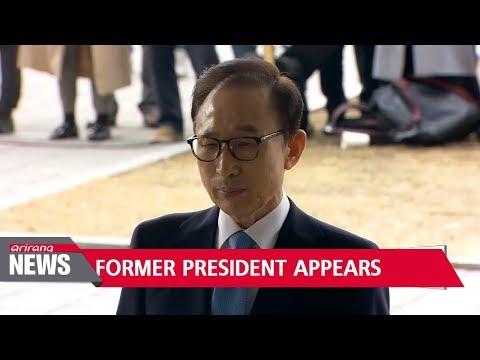 Fmr. president Lee Myung-bak appears before prosecutors for questioning