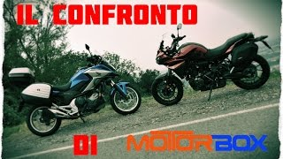 Honda NC750X DCT Travel Edition vs Yamaha Tracer 700, il confronto di MotorBox