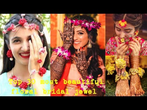 top-30-most-beautiful-bridal-flower-jewelry-design-ideas-for-haldi/mehandi|creative-stylish-flowers