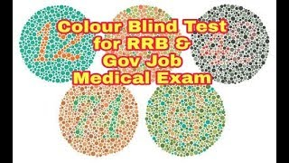 hard colour blind test, how to read colour blind test book for government jobs indian Railway,