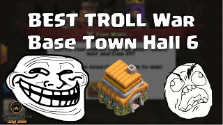 Possibly the BEST TROLL War Base for Town Hall 6? | Clash of Clans with Leonidas!