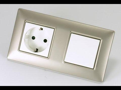 Как подключить одноклавишный выключатель с розеткой .