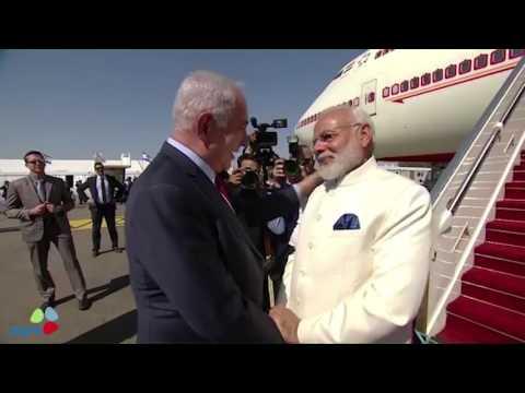 India's Prime Minister Narendra Modi's arrives in Israel