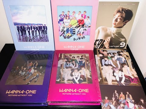 UNBOXING ♡ WANNA ONE Albums (MWAVE Signed)