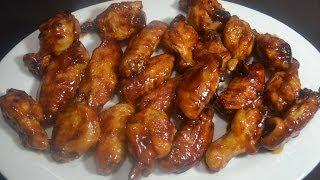 alitas de pollo con salsa bbq