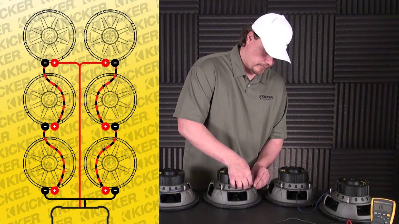 Subwoofer Wiring: Six 2 Ohm SVC Subs in Series / Parallel - YouTube YouTube
