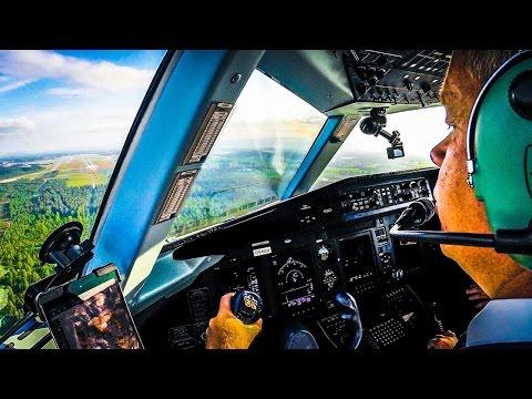 Touchdown In Oslo - Dornier 328JET Cockpit