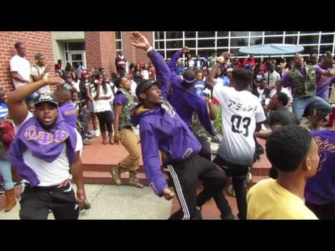 Omega Psi Phi disses Sigmas and Kappas at Tennessee State University  Courtyard Wednesday