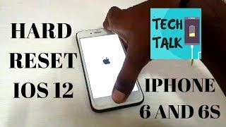 How to hard reset iphone 6 and 6s iOS 12 | Tech Talk |