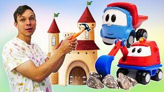 Грузовичок Лева и мультфильм. Видео Игрушки Машинки строят замок! Игровые наборы инструментов