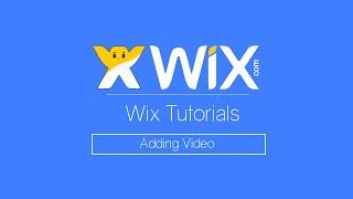 How to Add Video | Wix.com Tutorial | Free HTML 5 Website Builder