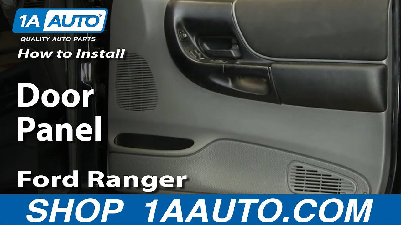 How To Remove Door Panel 93 10 Ford Ranger Youtube