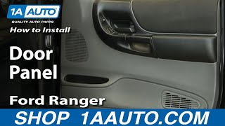 How To Remove Door Panel 93-10 Ford Ranger