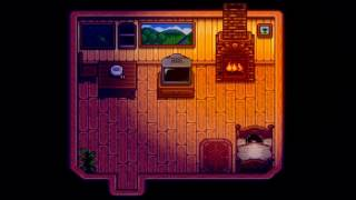 Stardew Valley ASMR // Evening Rain & Fireplace