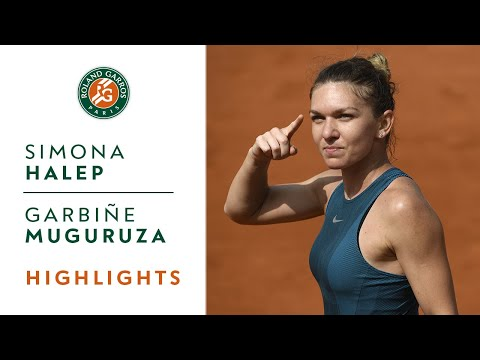 Simona Halep vs Garbine Muguruza - Semi-Final Highlights I Roland-Garros 2018