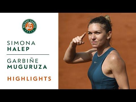 Simona Halep vs Garbine Muguruza  SemiFinal Highlights I RolandGarros 2018
