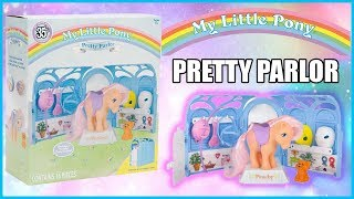MY LITTLE PONY 35TH ANNIVERSARY PRETTY PARLOR WITH EXCLUSIVE PEACHY PONY HTF