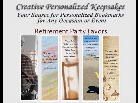 retirement party favors youtube