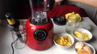 Dash Digital Blender - Orange, Pineapple, Mango Smoothie
