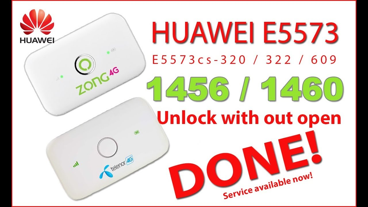 Huawei E5573Cs - 322 Zong / Telenor 21 327 62 00 1456 unlock done!