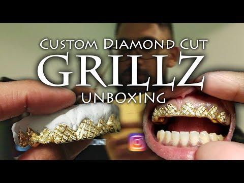UNBOXING: Custom GOLD Diamond Cut GRILLZ 😬🔥 From CS Grillz 👈